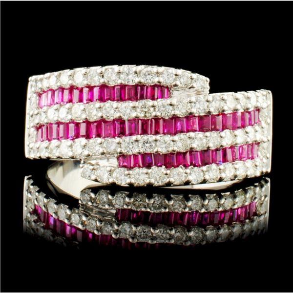 18K Gold 1.38ctw Ruby & 0.94ctw Diamond Ring