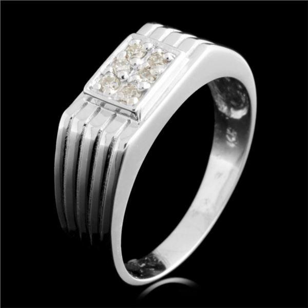 14K Gold 0.11ctw Diamond Ring
