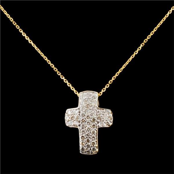 14K Gold 0.39ctw Diamond Pendant