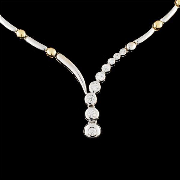 14K Gold 0.46ctw Diamond Necklace