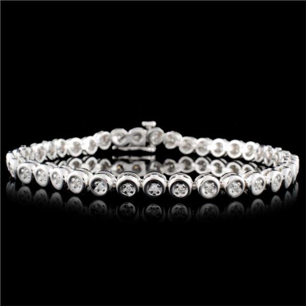 14K White Gold 0.50ctw Diamond Bracelet