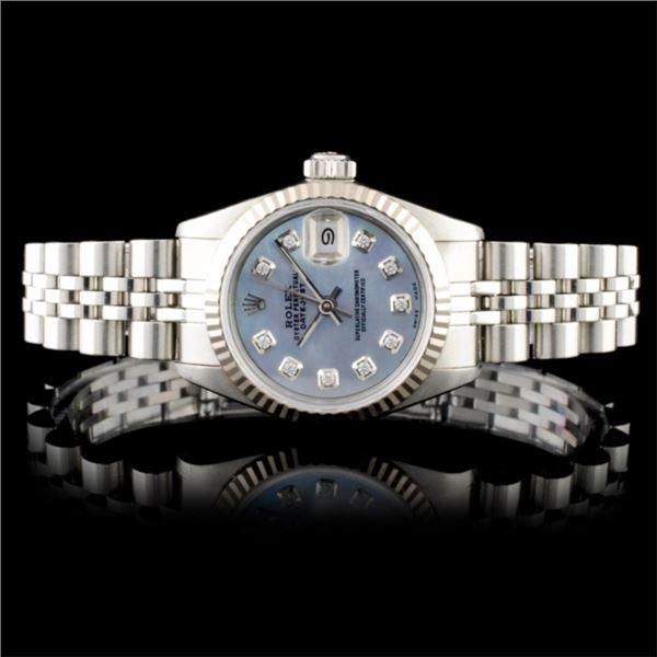 Rolex DateJust 18K & SS Ladies Wristwatch