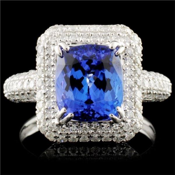 18K Gold 2.99ct Tanzanite & 1.13ctw Diamond Ring
