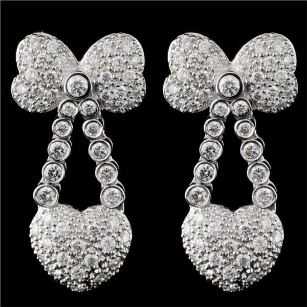 18K White Gold 1.28ct Diamond Earring
