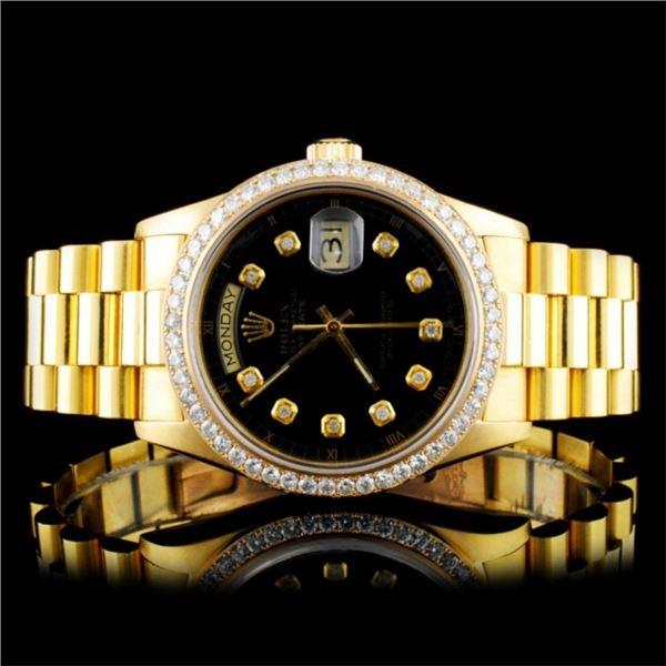 Rolex Day-Date 18K YG Diamond 36MM Watch
