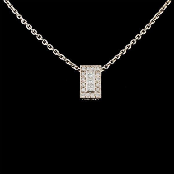 18K Gold 0.58ctw Diamond Pendant