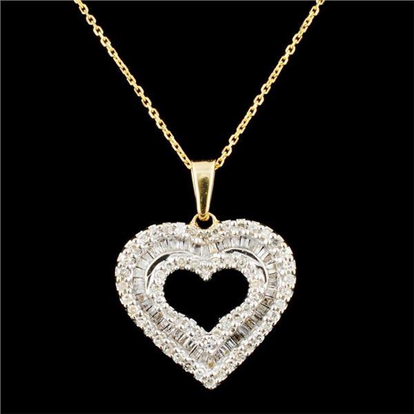 14K Gold 0.75ctw Diamond Pendant