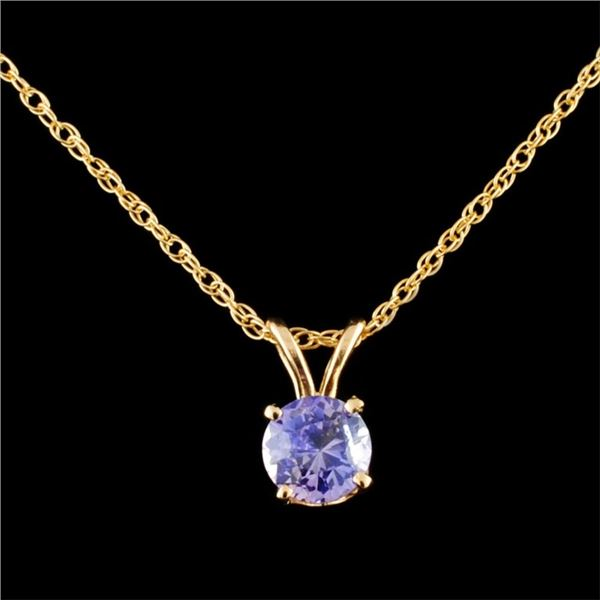 14K Gold 0.73ctw Sapphire Pendant
