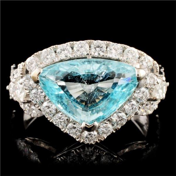 18K Gold 2.97ct Tourmaline & 1.22ctw Diamond Ring
