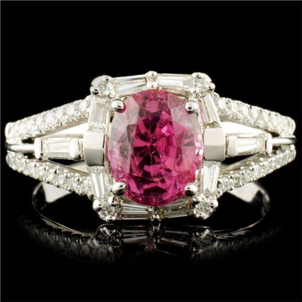 18K Gold 1.94ct Spinel & 0.56ctw Diamond Ring