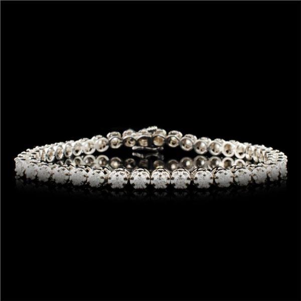 14K Gold 3.28ctw Diamond Bracelet
