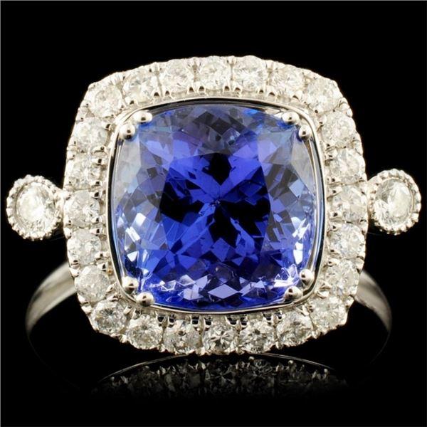 14K Gold 3.55ct Tanzanite & 0.42ctw Diamond Ring