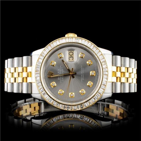 Rolex YG/SS DateJust Diamond 36MM Watch