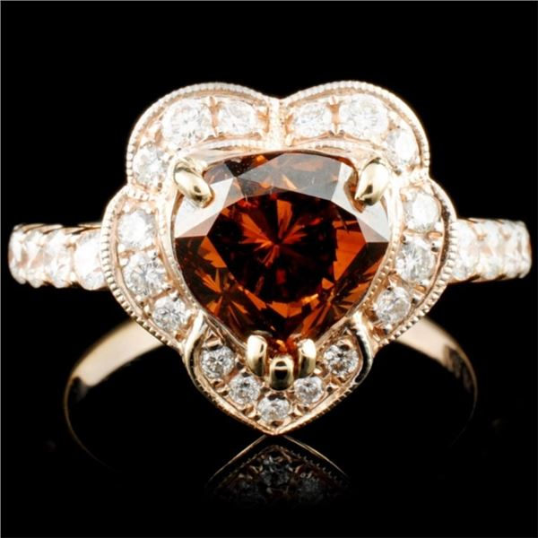 18K Gold 2.55ctw Color Diamond Ring