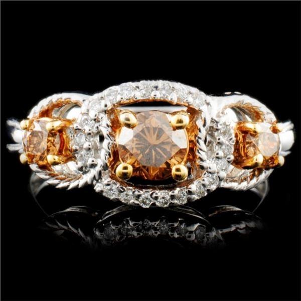14K Gold 0.62ctw Fancy Color Diamond Ring