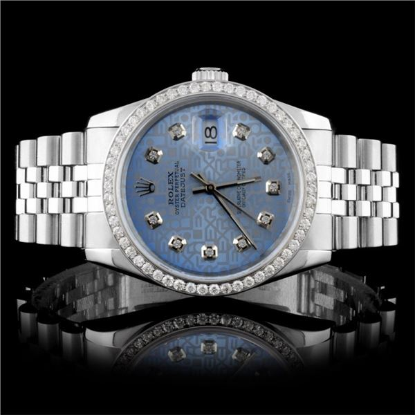 Rolex SS DateJust Diamond 36MM Wristwatch
