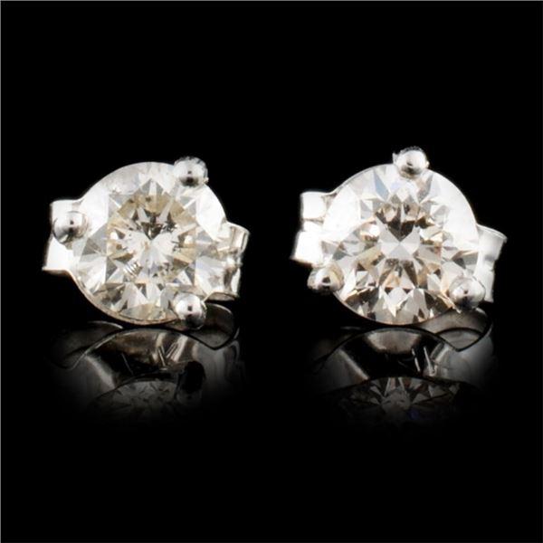 14K Gold 0.77ctw Diamond Earrings