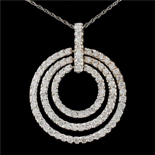 14K Gold 3.15ctw Diamond Pendant