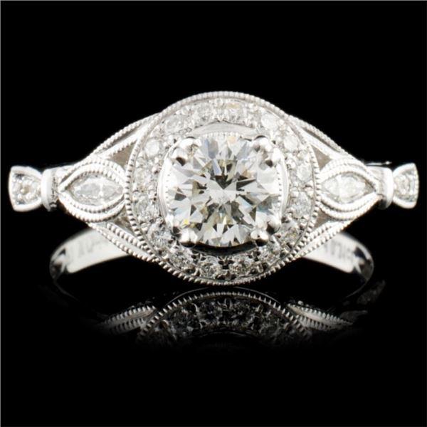18K Gold 0.82ctw Diamond Ring