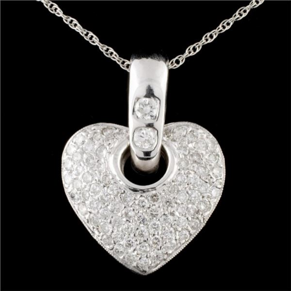 14K White Gold 2.23ctw Diamond Pendant