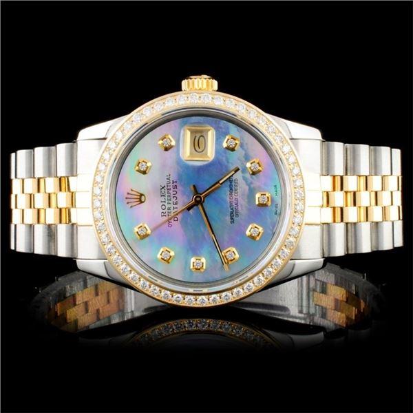 Rolex YG/SS DateJust Men's Diam 36MM Wristwatch