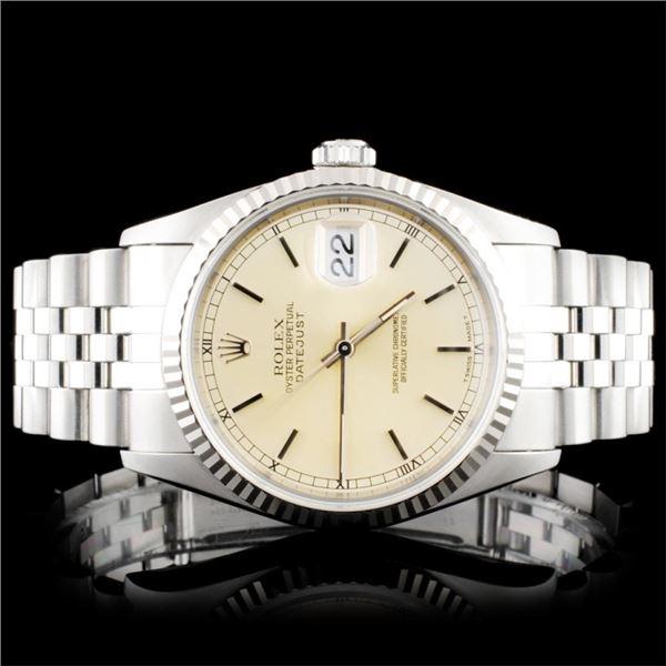 Rolex SS Oyster DateJust Wristwatch