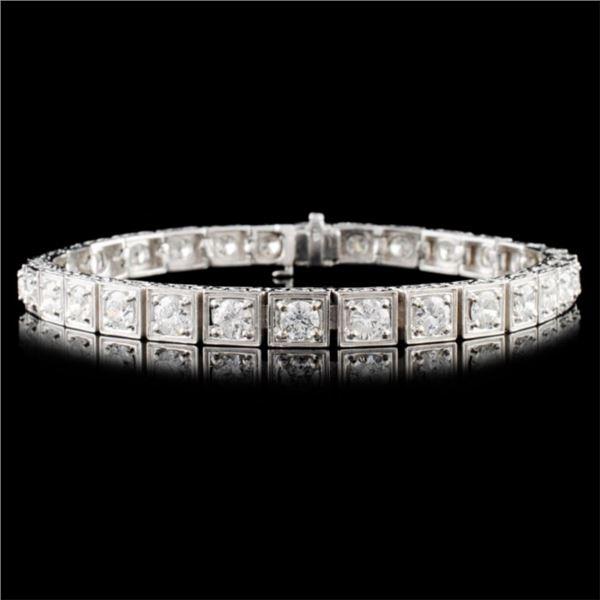 14K Gold 7.78ctw Diamond Bracelet