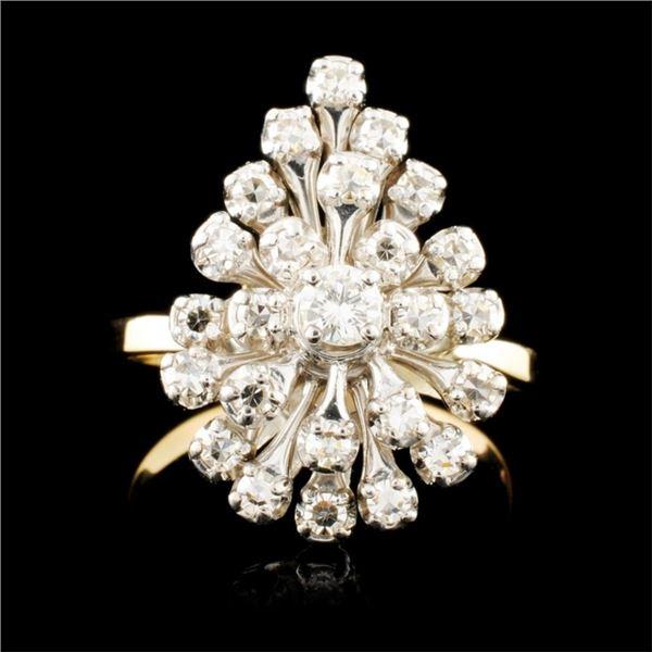 14K Gold 0.49ctw Diamond Ring