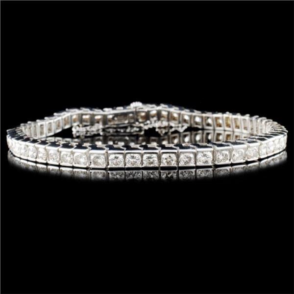 14K Gold 5.67ctw Diamond Bracelet