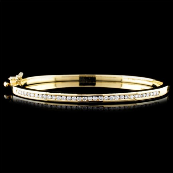 14K Gold 0.78ctw Diamond Bracelet