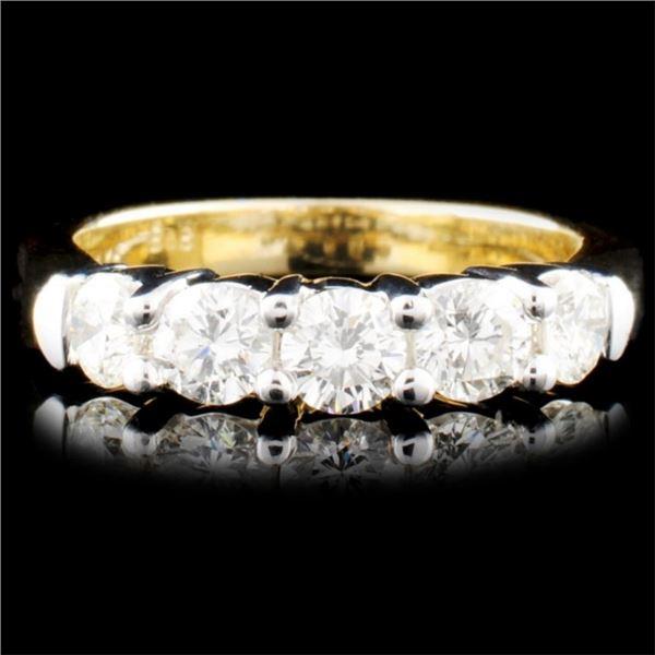 14K Gold 1.00ctw Diamond Ring