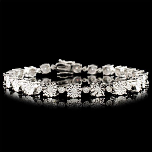 14K Gold 0.98ctw Diamond Bracelet