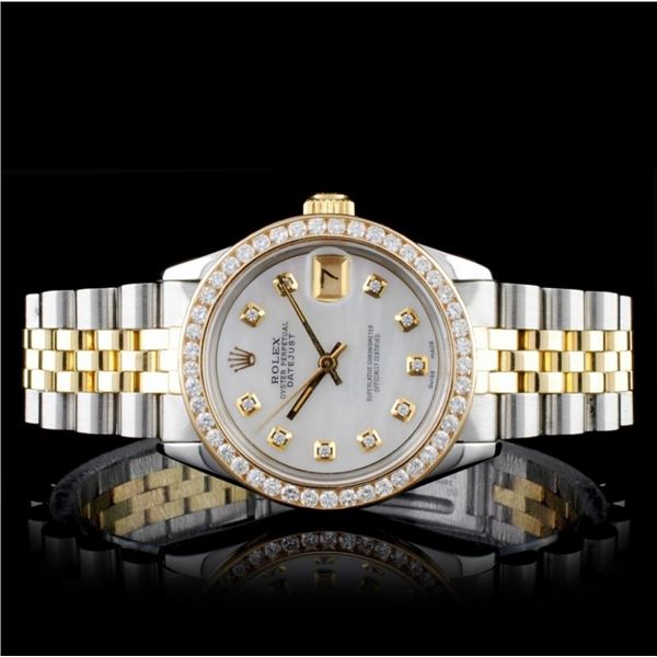 Rolex YG/SS DateJust Diamond Mid-Size 31MM Watch