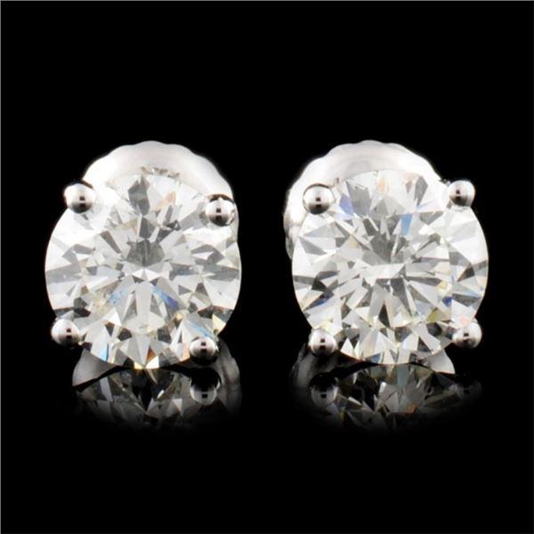 14K Gold 1.42ctw Diamond Earrings