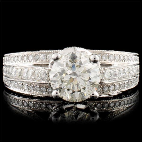18K Gold 2.89ctw Diamond Ring