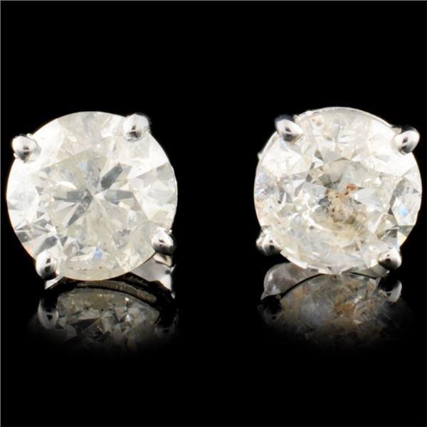 14K Gold 3.00ctw Diamond Earrings