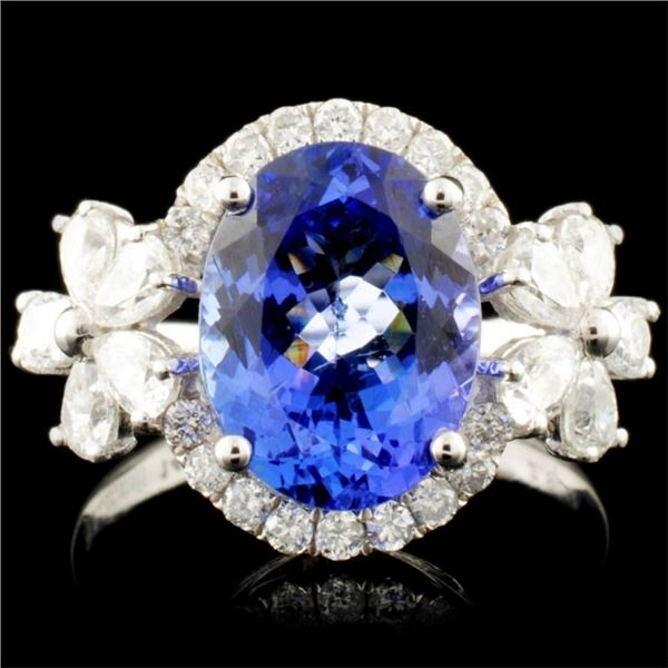 14K Gold 2.90ct Tanzanite & 1.05ctw Diamond Ring