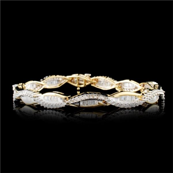 14K Gold 2.61ctw Diamond Bracelet