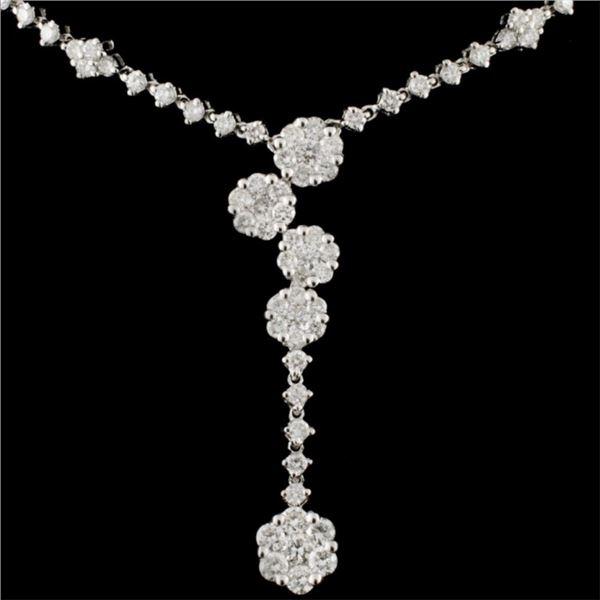 14K White Gold 2.02ctw Diamond Necklace