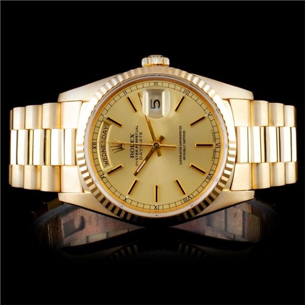 Rolex 18K YG Day-Date Men's Watch