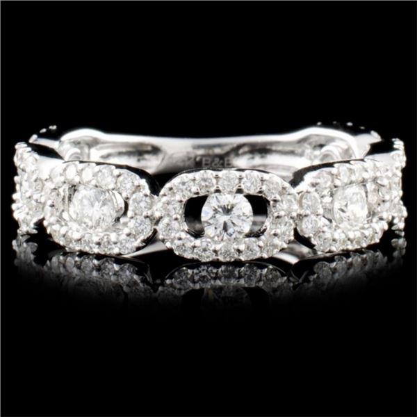 14K Gold 0.99ctw Diamond Ring