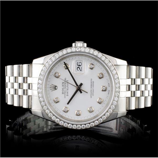 Rolex SS DateJust Diamond 36mm Watch
