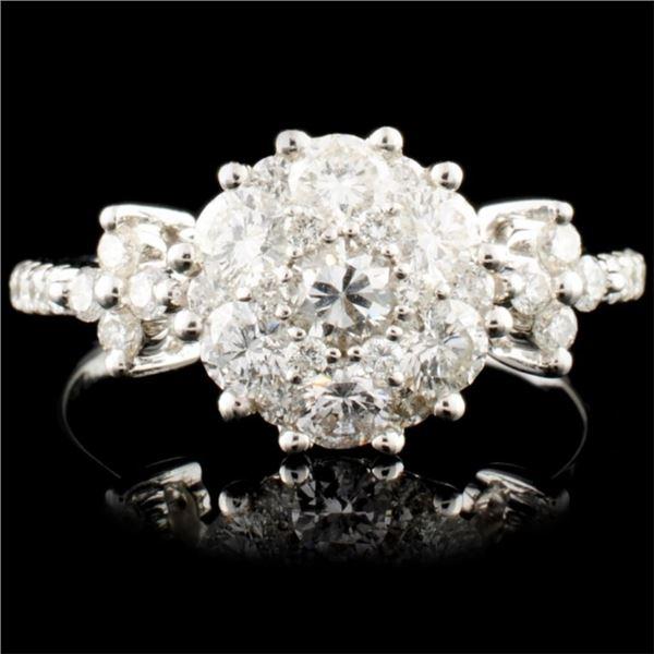 18K Gold 1.24ctw Diamond Ring
