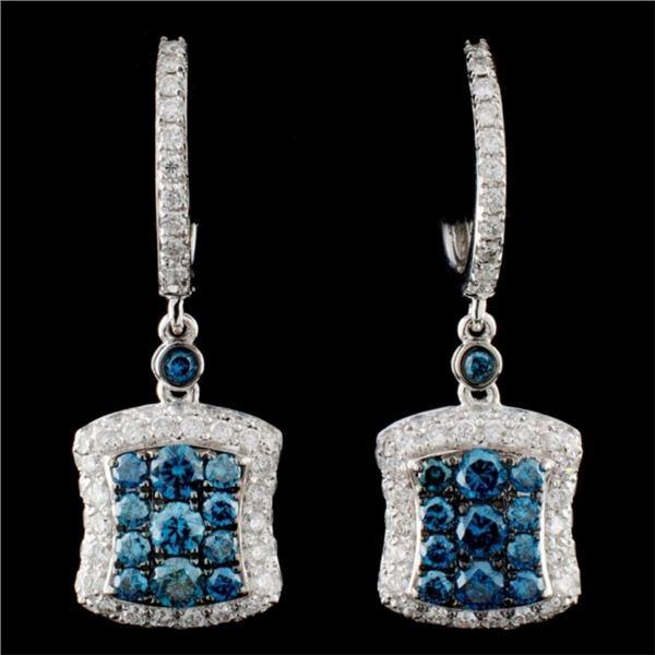 14K Gold 1.73ctw Fancy Diamond Earrings