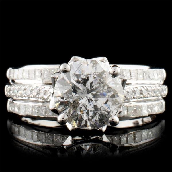 14K Gold 2.73ctw Diamond Ring