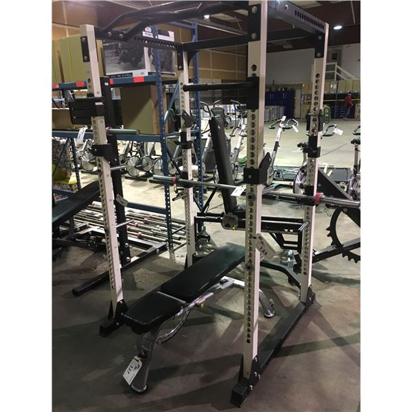 GREY PARAMOUNT MOBILE COMMERCIAL ADJUSTABLE WEIGHT BENCH