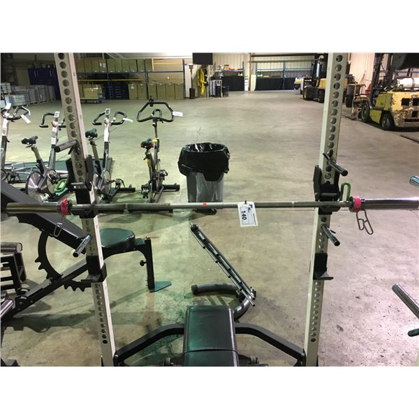 CHROME COMMERCIAL OLYMPIC WEIGHT BAR WITH WEIGHT LOCKS
