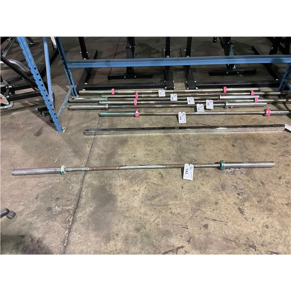 CHROME COMMERCIAL OLYMPIC WEIGHT BAR ( NO WEIGHT LOCKS )