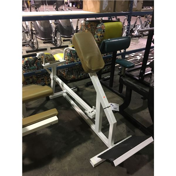 WHITE PRO-ELITE STRENGTH SYSTEMS FREE WEIGHT TILTED ROW / CURL