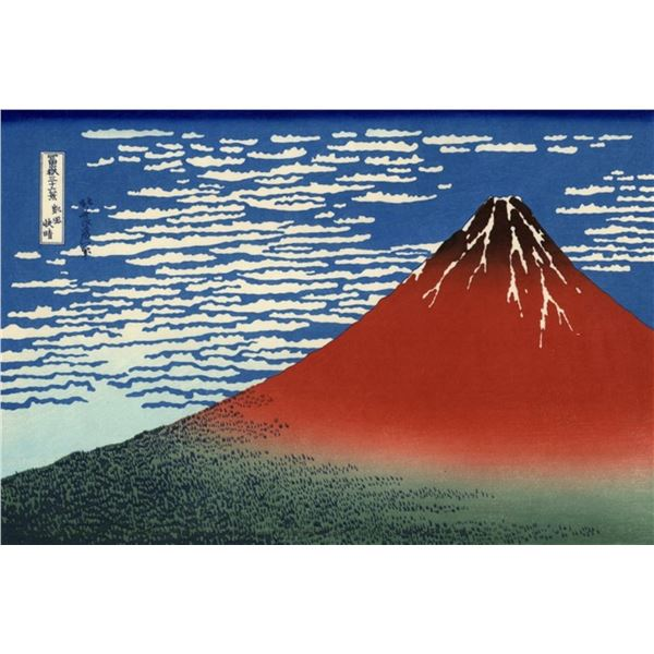 Hokusai - Red Southern Wind on Fiji on a Clear Morning